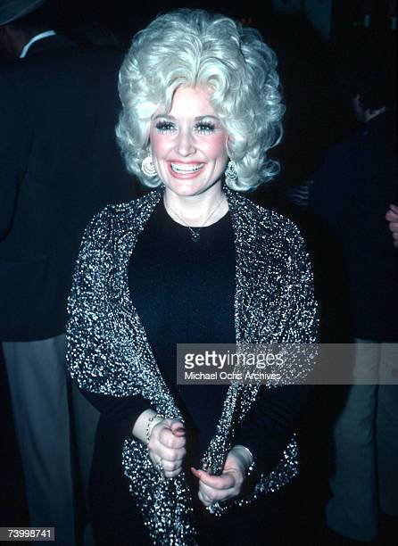 Country singer Dolly Parton attends an event in March 1977 in Los Angeles, California.