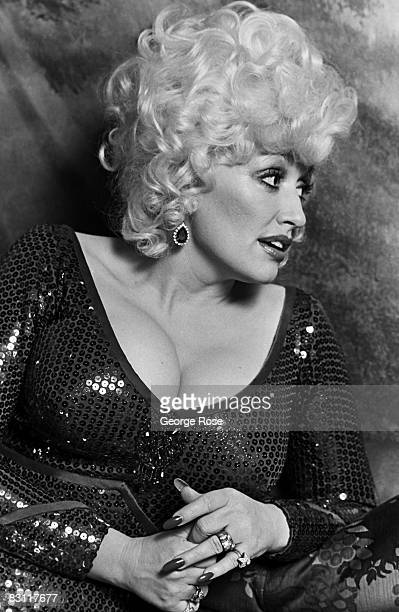 Country singer Dolly Parton lounges in her dressing at Harrah's Club in this 1980 Lake Tahoe Nevada where she was performing a series of live concerts