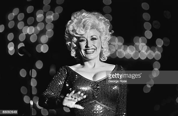 Country singer Dolly Parton performs at Harrah's Club in this 1980 Lake Tahoe Nevada photo