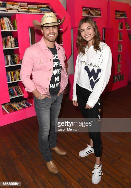 Country singer Dustin Lynch and Victoria's Secret model Grace Elizabeth attend the Victoria's Secret PINK Nation University celebration at West...