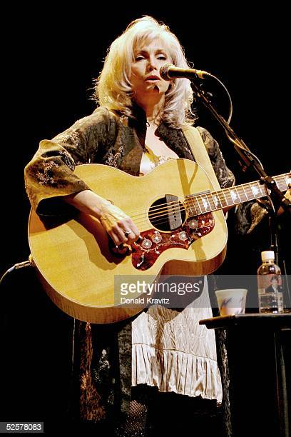 Country singer Emmylou Harris performs in the Xanadu Showroom at Trump Taj Mahal on April 1 2005 in Atlantic City New Jersey