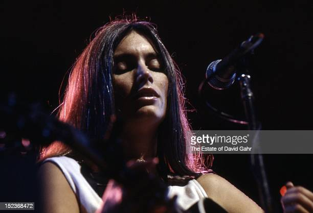Country singer Emmylou Harris performs on July 19 1978 at the Dr Pepper Music Festival in New York's Central Park New York City New York
