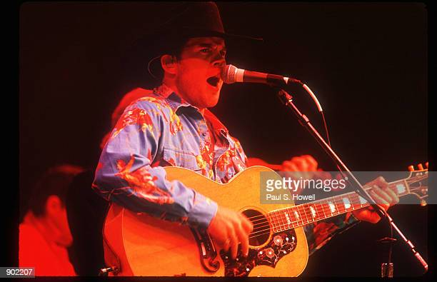Country Singer Gary Allan performs during a concert at the Houston Livestock Show and Rodeo February 17 1997 in Houston TX Allan debuted in 1996 and...