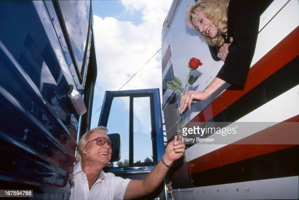 Country singer George Jones and Tammy Wynette are photographed for People Magazine in August 1995 in Merrillville Indiana PUBLISHED IMAGE