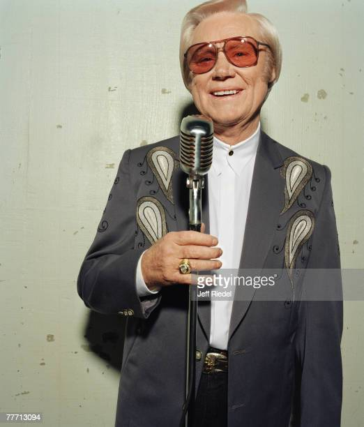 Country singer George Jones is photographed on October 1 1998 in Nashville Tennessee