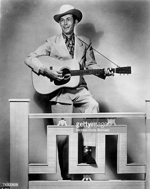 Country singer Hank Williams poses for a portrait circa 1940 in Nashville Tennessee