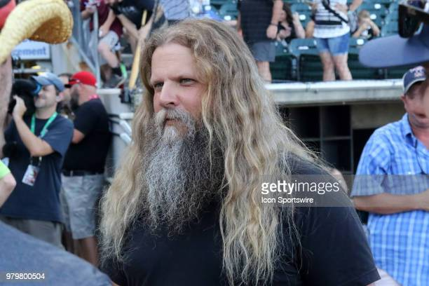 Country singer Jamey Johnson arrives for the National Anthem at the 2018 Southern League AllStar Game The South AllStars defeated the North AllStars...