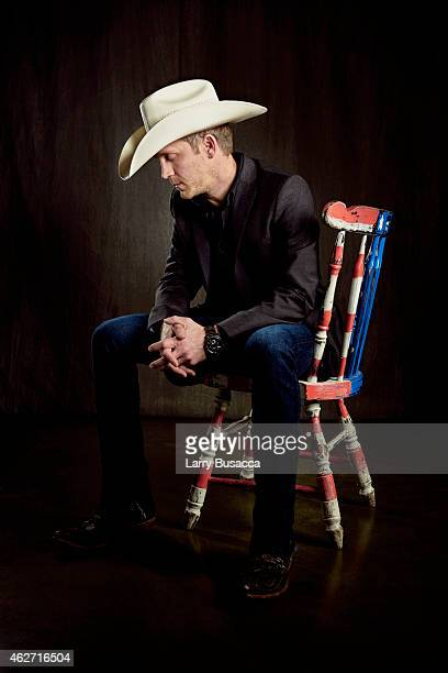 Country singer Justin Moore poses for a portrait on December 15 2014 at Music City Center in Nashville Tennessee