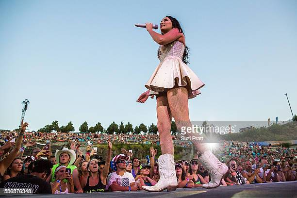 Country singer Kacey Musgraves performs at Gorge Amphitheatre on August 5 2016 in George Washington