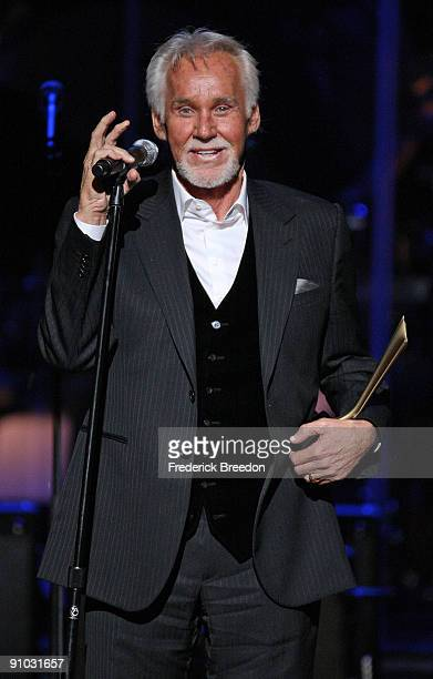 Country singer Kenny Rogers receives the Cliffie Stone Pioneer Award at Schermerhorn Symphony Center on September 22 2009 in Nashville Tennessee