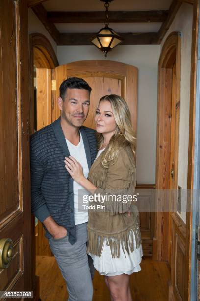 Country singer LeAnn Rimes and actor Eddie Cibrian are photographed for USA Today on July 15 2014 in New York City