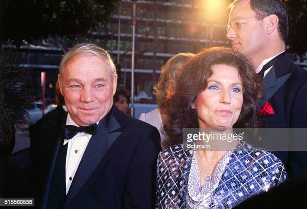 Country singer Loretta Lynn attends Academy Awards with her husband. The movie Coal Miner's Daughter based on her own life, was nominated for Best...