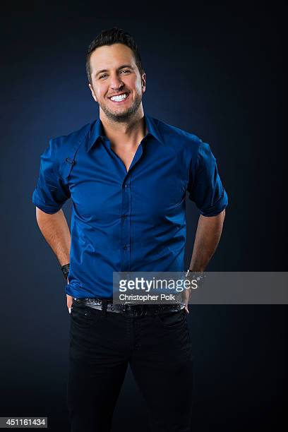 Country singer Luke Bryan is photographed at the CMT Music Awards Wonderwall portrait studio on June 4 2014 in Nashville Tennessee