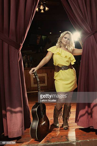 Country singer Miranda Lambert is photographed for Texas Monthly Magazine on August 22 2011 in Los Angeles California