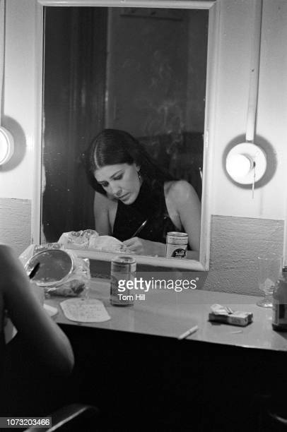 Country singer Rita Coolidge waits backstage in the dressing room before performing with Kris Kristofferson and Friends at the Municipal Auditorium...