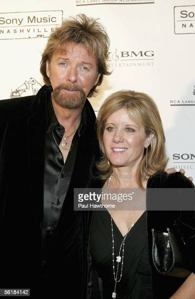 Country singer Ronnie Dunn of Brooks and Dunn and his wife Janine attend the Sony BMG 2005 Country Music Awards after party at Gotham Hall November...