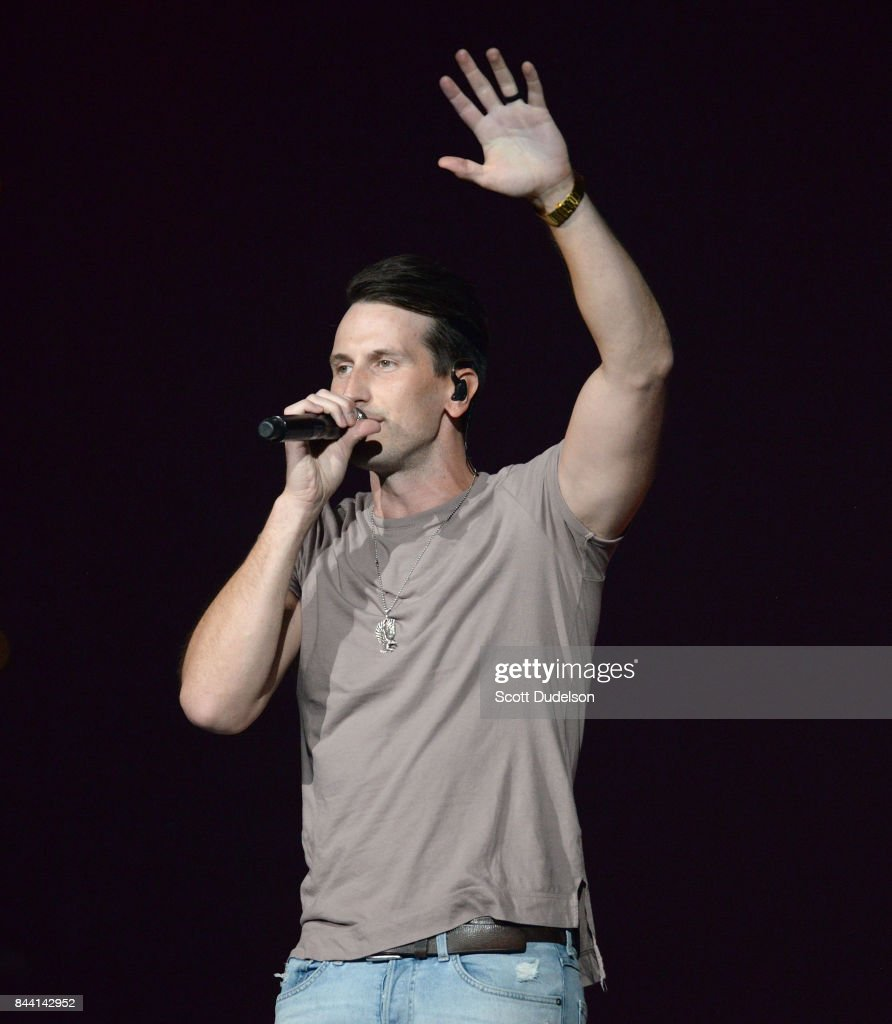 Country singer Russell Dickerson performs onstage at the Honda Center on September 7, 2017 in Anaheim, California.