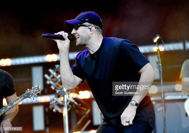 Country singer Sam Hunt performs onstage at Dodger Stadium on July 28 2018 in Los Angeles California
