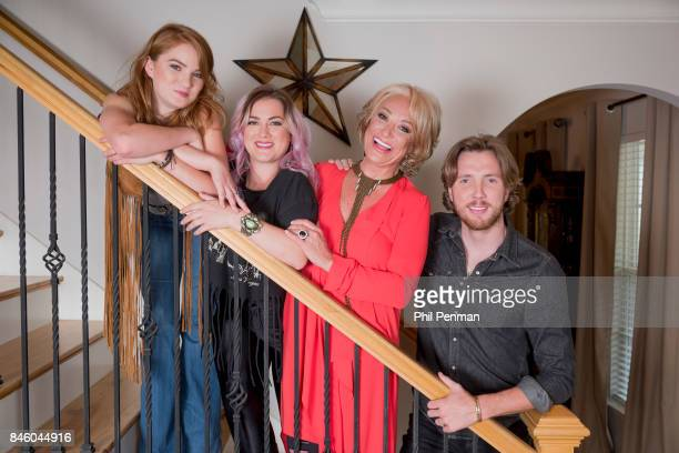 Country singer Tanya Tucker and children Layla Presley and Beau are photographed for Closer Weekly Magazine on July 18 2017 at home in Tennessee...