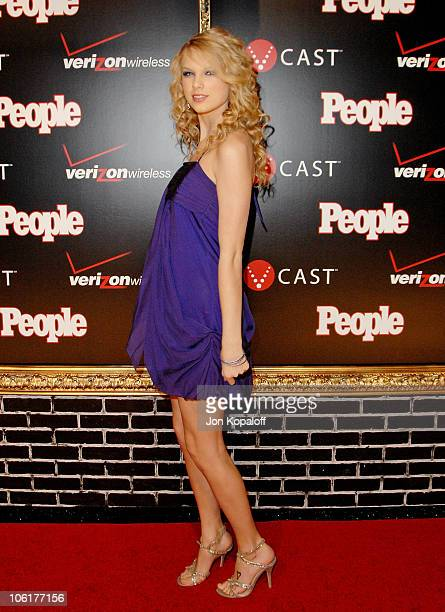 Country singer Taylor Swift arrives to the Verizon Wireless People Magazine's PreGrammy Party at Avalon Hollywood on February 8 2008 in Hollywood...