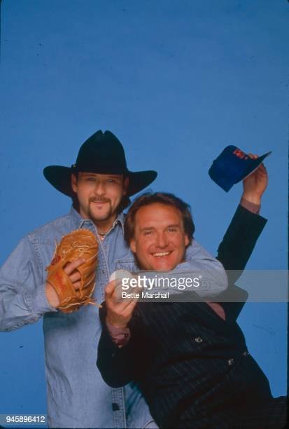 Country singer Tim McGraw and father/relief pitcher Tug McGraw are photographed for Country Weekly Magazine in 1994 in New York City