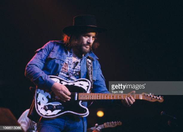 Country singer Waylon Jennings performs at the Omni Coliseum on March 2 1978 in Atlanta Georgia