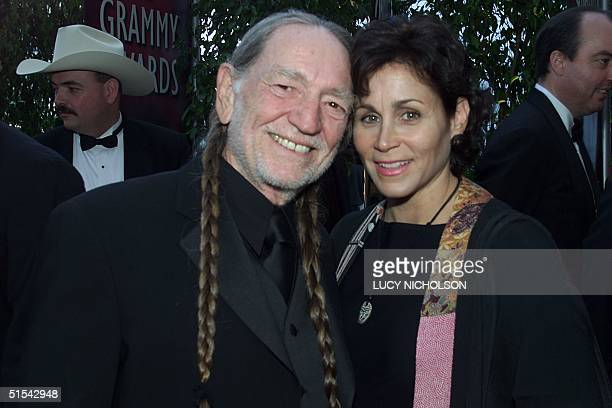 Country singer Willie Nelson and his wife Annie arrive at the 42nd Annual Grammy Awards 23 February at the Staples Center in Los Angeles AFP PHOTO...