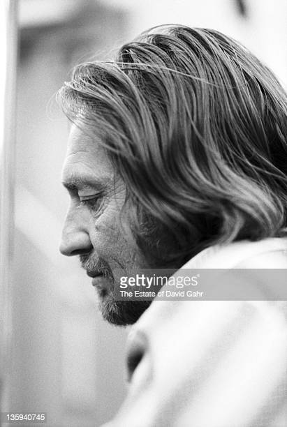 Country singer Willie Nelson in the studios of Atlantic Records in February 1973 in New York City, New York.