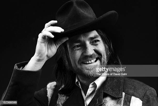 Country singer Willie Nelson poses for a portrait in the studios of Atlantic Records in February 1973 in New York City New York