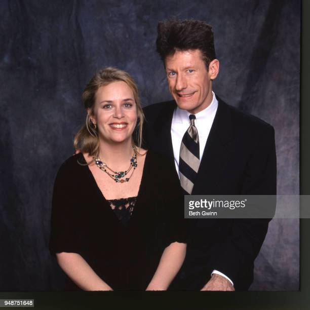 Country singers and songwriters Mary Chapin Carpenter and Lyle Lovett backstage at the CMA Award Show Backstage October 10 1988 in Nashville Tennessee