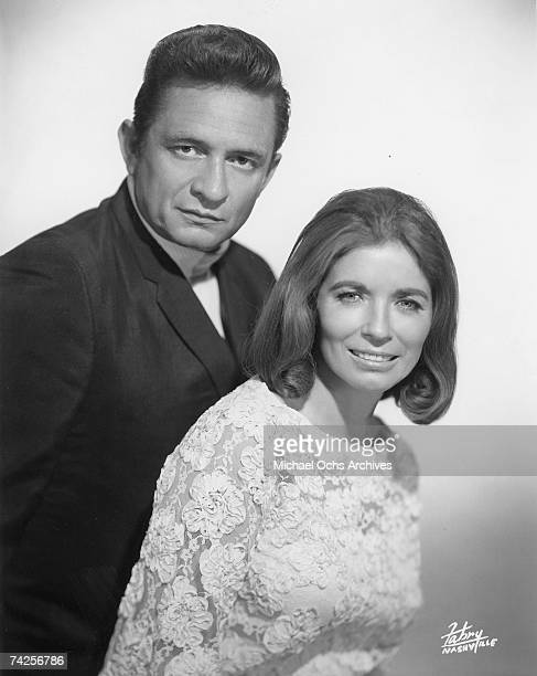 Country singers Johnny Cash and June Carter pose for a portrait in circa 1968