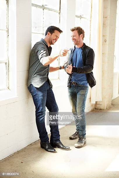 Country singers Luke Bryan and Dierks Bentley are photographed for People Magazine on February 29 2016 in New York City PUBLISHED IMAGE