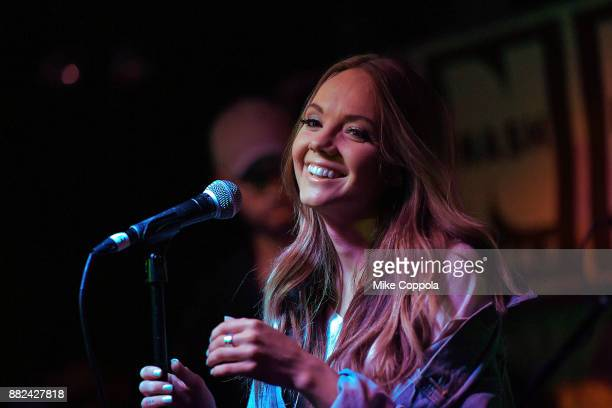 Country Singer/songwriter Danielle Bradbery performs during her album release celebration at Hill Country on November 29 2017 in New York City