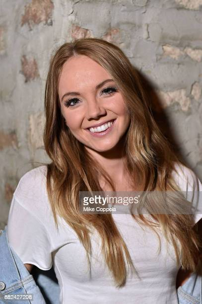 Country Singer/songwriter Danielle Bradbery poses for a portrait at her album release celebration at Hill Country on November 29, 2017 in New York...