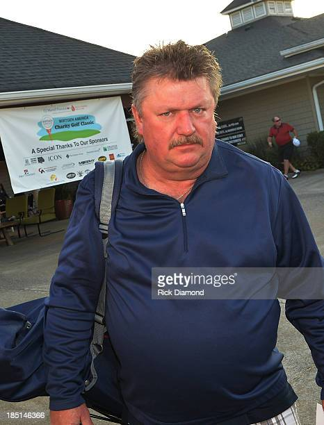 Country Singer/Songwriter Joe Diffie attends the TJ Martell Foundation 2013 Wirtgen America Charity Gold Classic at the Hermitage Golf Course on...
