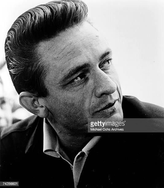 Country singer/songwriter Johnny Cash poses for a portrait in circa 1968