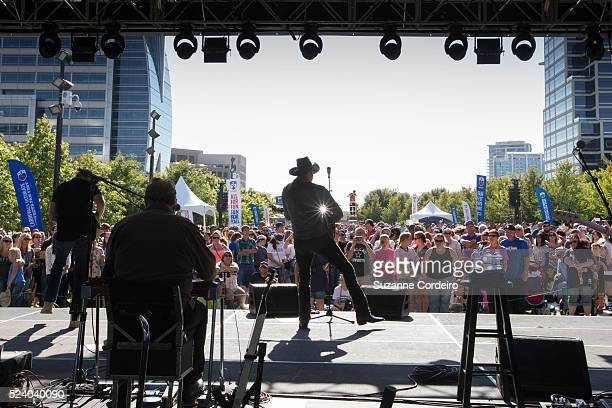 Country star Trace Adkins performs in concert at Carnival's Ultimate Cowboys Fan Fest on October 18 2015 at Klyde Warren Park in Dallas Texas More...