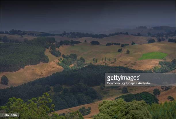 Country views at Trida near Leongatha, Strzelecki ranges, South Gippsland
