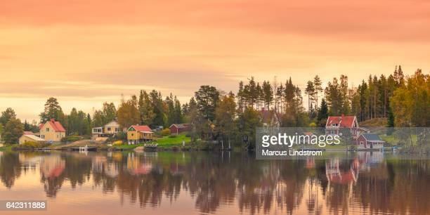 country village - sweden stock pictures, royalty-free photos & images