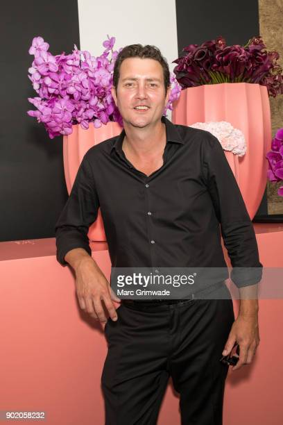 Country western singer Adam Harvey attends Magic Millions Polo on January 7 2018 in Gold Coast Australia