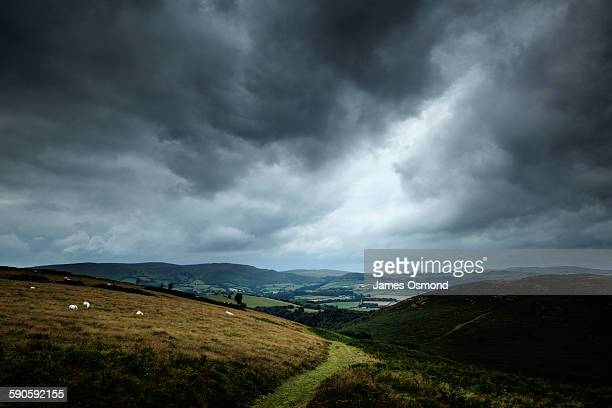 Countryside and cloudy sky