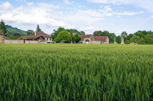 Countryside and farmland, Giverny, Normandy, France - gettyimageskorea
