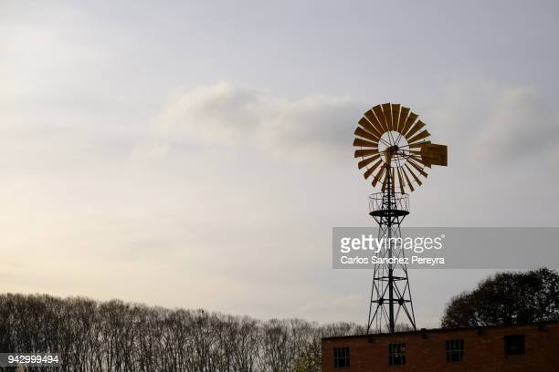countryside in catalonia - old windmill stock photos and pictures