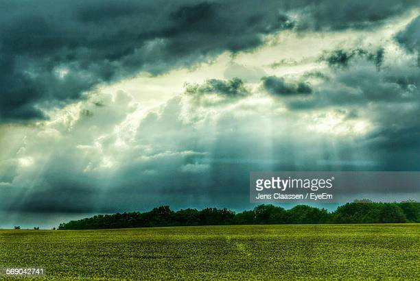Countryside Landscape Against Scenic Sky
