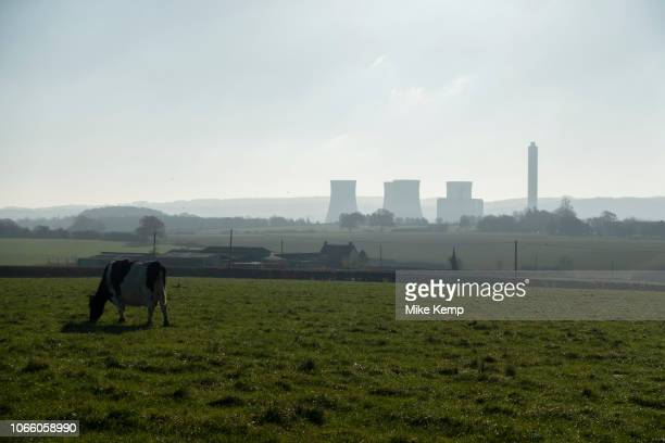 Countryside landscape view towards the decomissioned Rugeley Power Station in Rugeley Staffordshire United Kingdom The Rugeley power stations were a...
