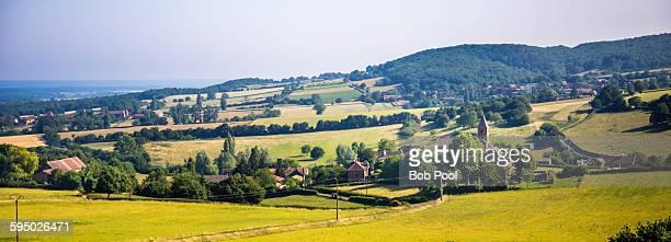 Countryside near Brancion, Burgundy, France