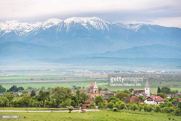 countryside near sibiu, transylvania, romania, europe - sibiu stock photos and pictures