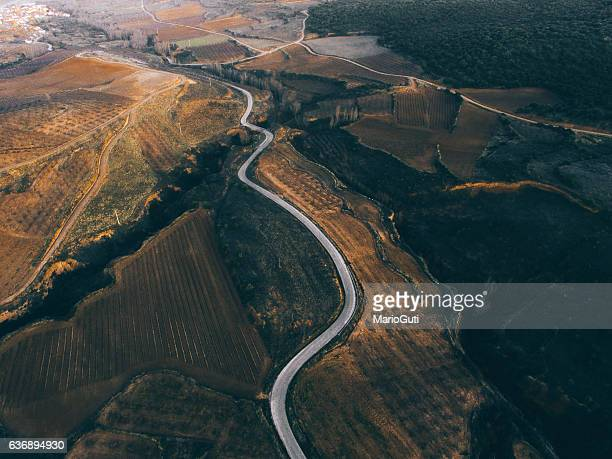Countryside road from above