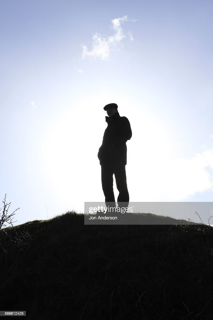 Countryside Silhouette : Foto de stock