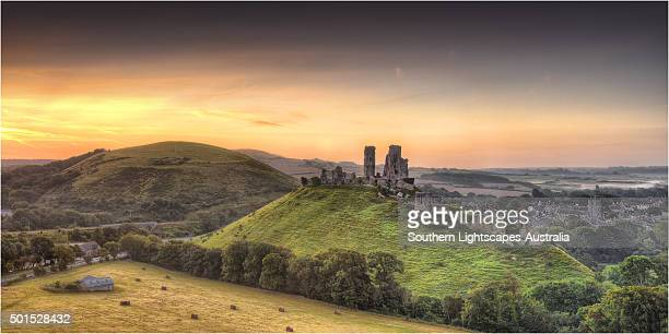 A countryside view near Corfe Castle, Isle of Purbeck, Dorset, England.